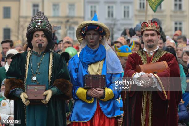 Hundreds take part in the annual 'Orszak Trzech Kroli' in Krakow city center The traditional procession which annually marks the end of the Christmas...