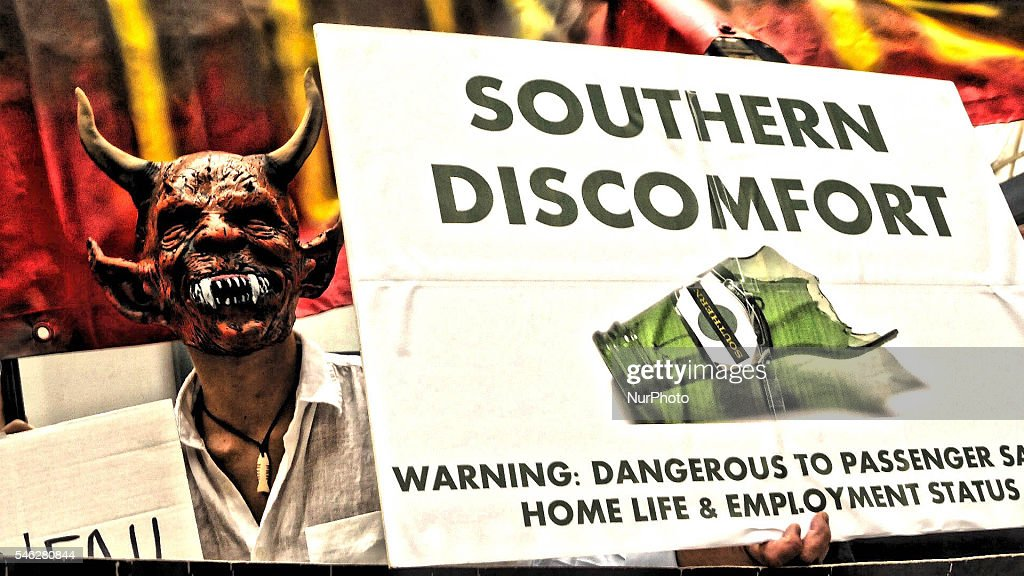 Protests Against Southern Rail-London : News Photo