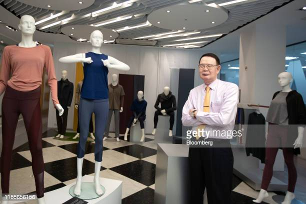 Hung Cheng-hai, chairman and chief executive officer of EclatTextile Co., poses for a photograph in Taipei, Taiwan, on Monday, July 8, 2019. The...