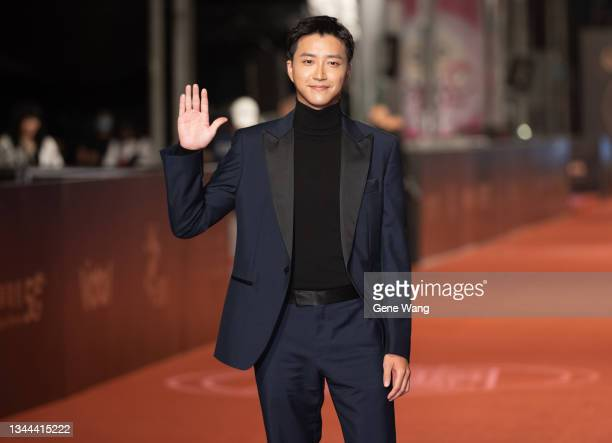 Hung Chieh Chiang arrives at the 56th Television Golden Bell Awards at National Sun Yat-Sen Memorial Hall on October 02, 2021 in Taipei, Taiwan.