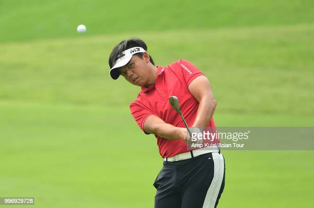 Hung Chienyao of Chinese Taipei pictured during the first round of the Bank BRI Indonesia Open at Pondok Indah Golf Course on July 12 2018 in Jakarta...