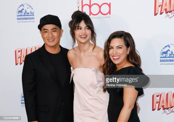 Hung Vanngo Selena Gomez and Marissa Marino attend the 2020 Hollywood Beauty Awards at The Taglyan Complex on February 06 2020 in Los Angeles...