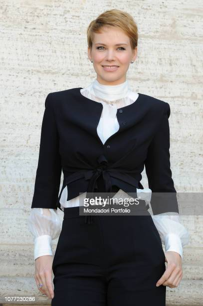 Hungarian actress Andrea Osvart attends the photocall of the film Natale a 5 stelle at The Space Cinema Moderno Rome December 4th 2018