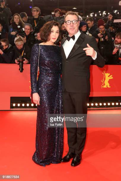 Hungarian actress Dorka Gryllus and German actor Sebastian Koch attend the Opening Ceremony 'Isle of Dogs' premiere during the 68th Berlinale...