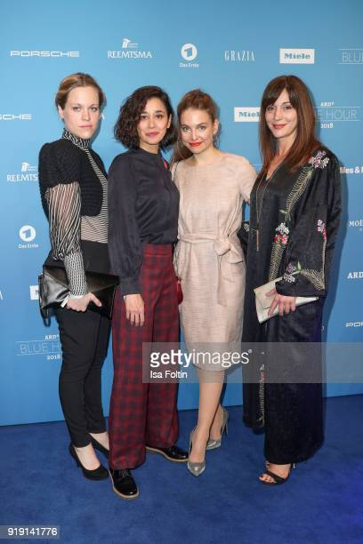 Hungarian actress Dorka Gryllus Ulrike C Tscharre and guestst attend the Blue Hour Reception hosted by ARD during the 68th Berlinale International...