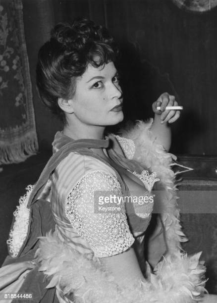 Hungarian actress Eva Bartok as she appears in the play 'The Lovers' in Edinburgh Scotland 21st February 1955