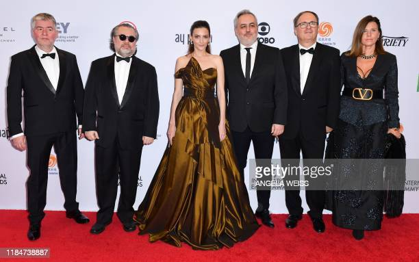Hungarian actress Marina Gera and cast/crew arrive for the 47th Annual International Emmy Awards at New York Hilton on November 25 2019 in New York...