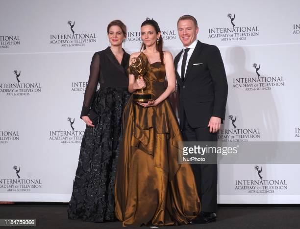 Hungarian actress Marina Gera at the 47th International Emmy awards night at New York Hilton on November 25 2019 in New York City