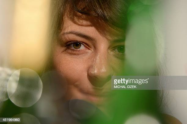 Hungarian actress Marina Gera attends a press conference of the film ''Free fall'' in competition at the 49th Karlovy Vary International Film...