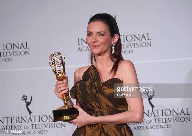 Hungarian actress Marina Gera won the award for ''Best Performance by an Actress'' for ''Orok Tel'' at the 47th International Emmy awards night at...