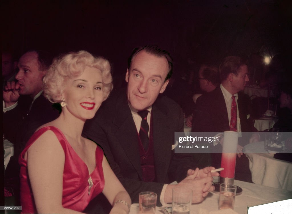 Zsa Zsa Gabor & George Sanders Out To Dinner : News Photo