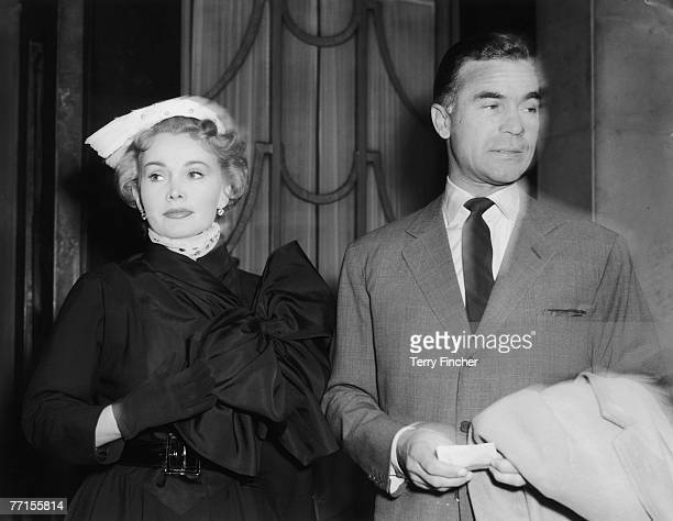 Hungarian actress Zsa Zsa Gabor with Dominican diplomat and playboy Porfirio Rubirosa at Claridges Hotel in London 29th April 1954