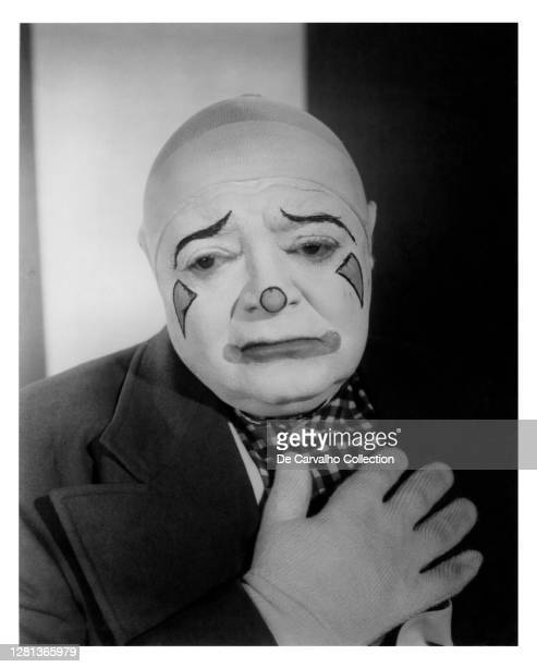 Hungarian Born Actor Peter Lorre as 'Skeeter' in a clown outfit in a publicity shot from the movie 'The Big Circus' United States.