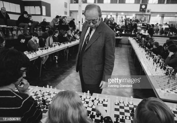 Hungarian chess player Laszlo Szabo at a chess tournament, UK, 21st January 1974.