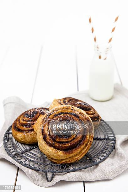 Hungarian cocoa rolls with milk