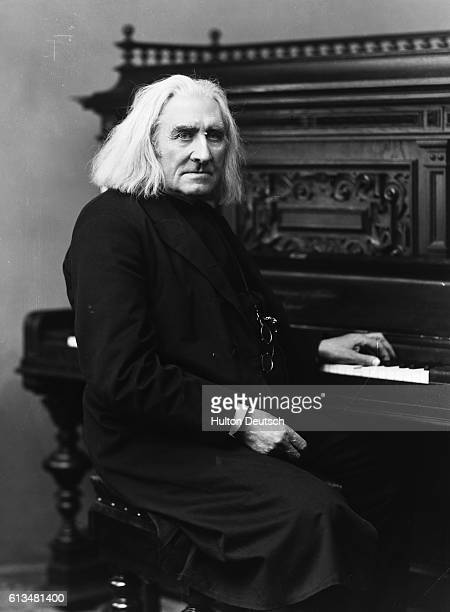 Hungarian composer and pianist Franz Liszt 1886