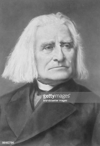 Hungarian Composer Franz Liszt Around 1880 [Franz Liszt ungar Pianist Komponist * 1811 1886 Foerderer R Wagners Werke sinfon Dichtungen Oratorien...
