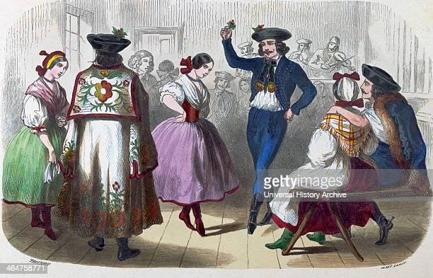 Hungarian Dancers By Auguste Trichon 1814 French Dancer Dance Woman Girl Pose Traditional Folk Dance Folk Costume Folk Dancers 19th Century Music...