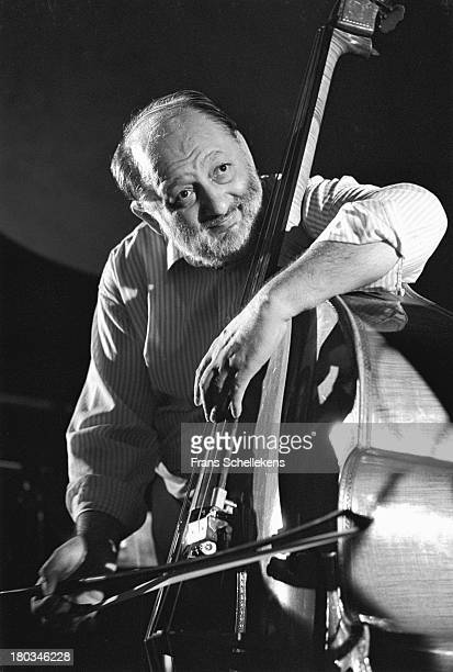 Hungarian double bass player Aladar Pege performs at the BIM Huis in Amsterdam, Netherlands on 16th September 1989.