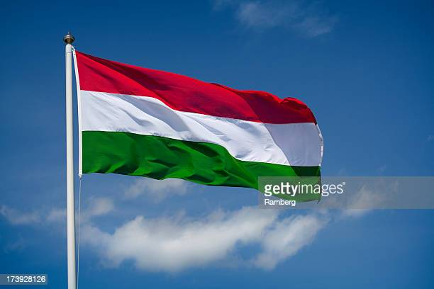 bandera húngara - hungria fotografías e imágenes de stock