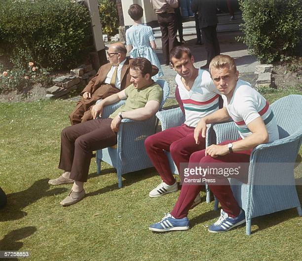 Hungarian footballers relaxing at the Palace Hotel Southport where the national team are staying during the 1966 World Cup in England July 1966 From...