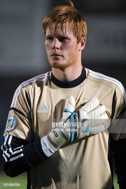 Hungarian goalkeeper Adam Bogdan of Hungary national football team poses prior to the World Cup 2014 group D qualifying football match Andorra vs...
