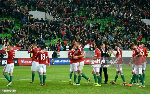 Hungarian head coach Pal Dardai is seen during the Euro 2016 qualification soccer match between Hungary and Greece at Groupama Aréna in Budapest...