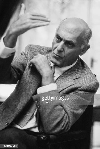 Hungarian orchestral and operatic conductor Georg Solti , UK, 1st November 1983.