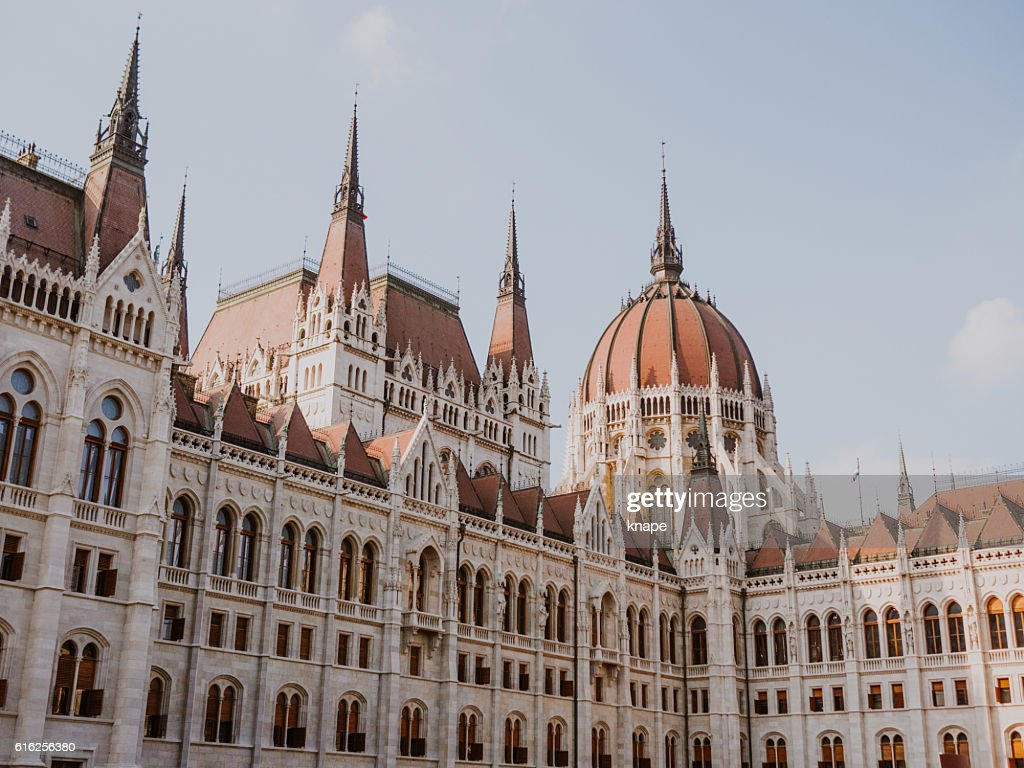 Hungarian Parliament Building in Budapest Hungary : Stock Photo