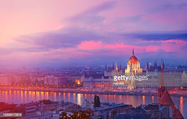 hungarian parliament building in budapest - budapest stock pictures, royalty-free photos & images