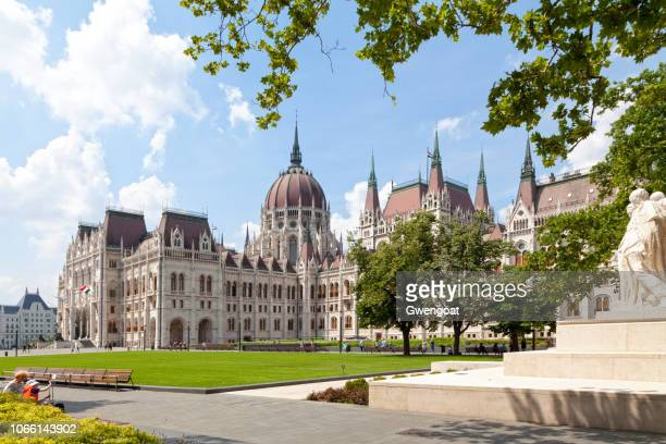 hungarian parliament building in budapest - gwengoat stock pictures, royalty-free photos & images