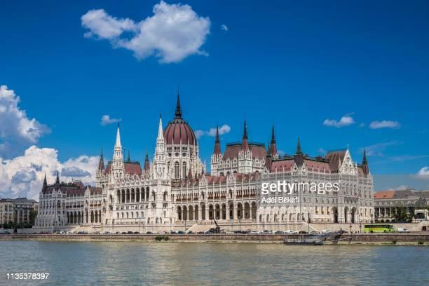 hungarian parliament building - sede do parlamento húngaro - fotografias e filmes do acervo