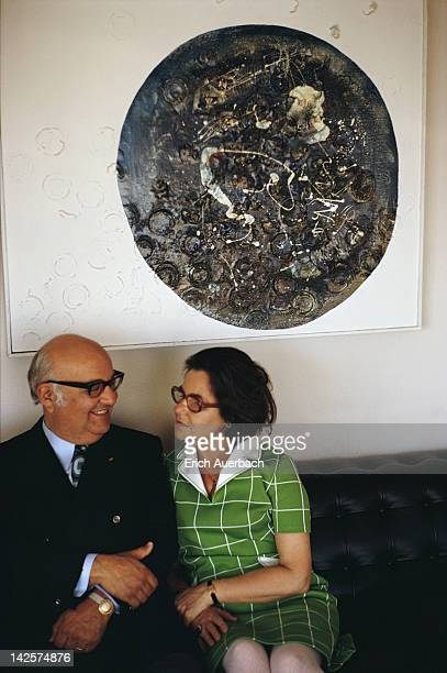 Hungarian pianist Andor Foldes and his wife Lili at their home in Herrliberg Switzerland circa 1965