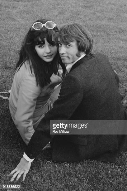 Hungarian pop singer Sarolta Zalatnay with her boyfriend British singersongwriter and musician Maurice Gibb of the Bee Gees London UK 24th April 1968