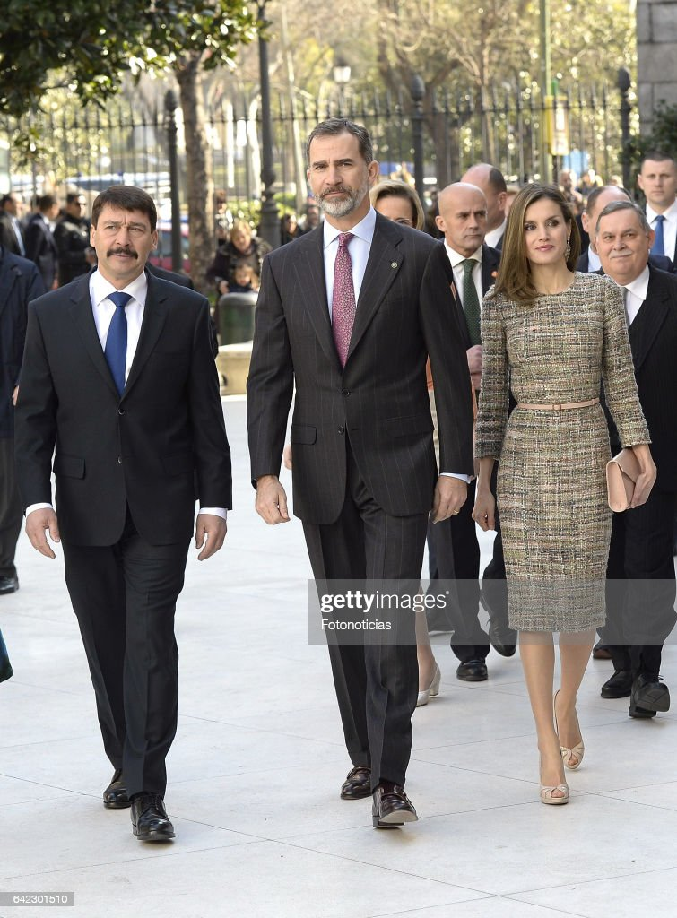 Spanish Royals Attend Exhibition Opening at Thyssen Bornemisza Museum