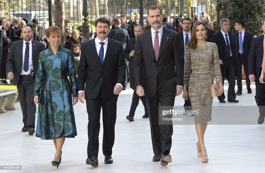 Spanish Royals Attend Exhibition Opening at Thyssen Bornemisza Museum
