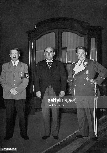 Hungarian Prime Minister Gyula Gömbös visiting the Chancellery Berlin Germany 1936 When Adolf Hitler became Chancellor of Germany in 1933 Gömbös...