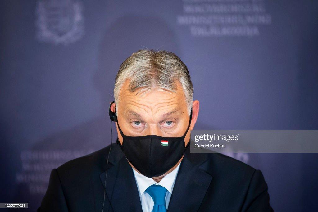 Hungarian Prime Minister Viktor Orbán Visits Czech Counterpart Andrej Babis : News Photo