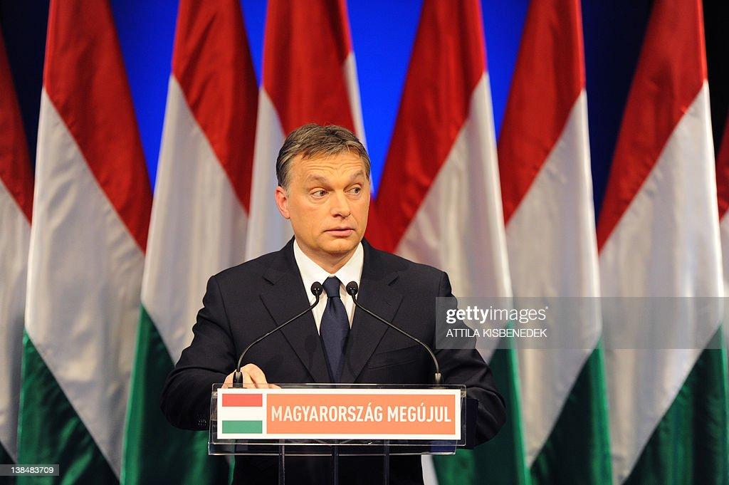 Hungarian Prime Minister Viktor Orban de : News Photo