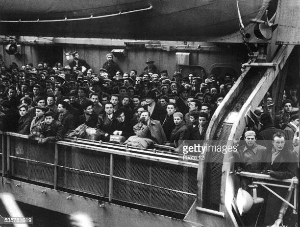 Hungarian refugees arrive in the United States They have fled their country after the Budapest revolution January 7 Hungary Hungarian uprising of...