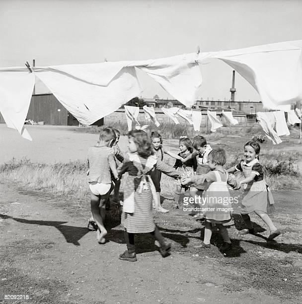 Hungarian Revolution Kids in a refugees camp Burgenland Austria Photograph 1956 [Ungarische Revolution Kinder in einem Flchtlingslager Burgenland...