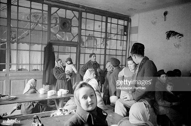 Hungarian revolution of 1956 Some Hungarian refugees being sheltered in an Austrian refugee camp November 1956