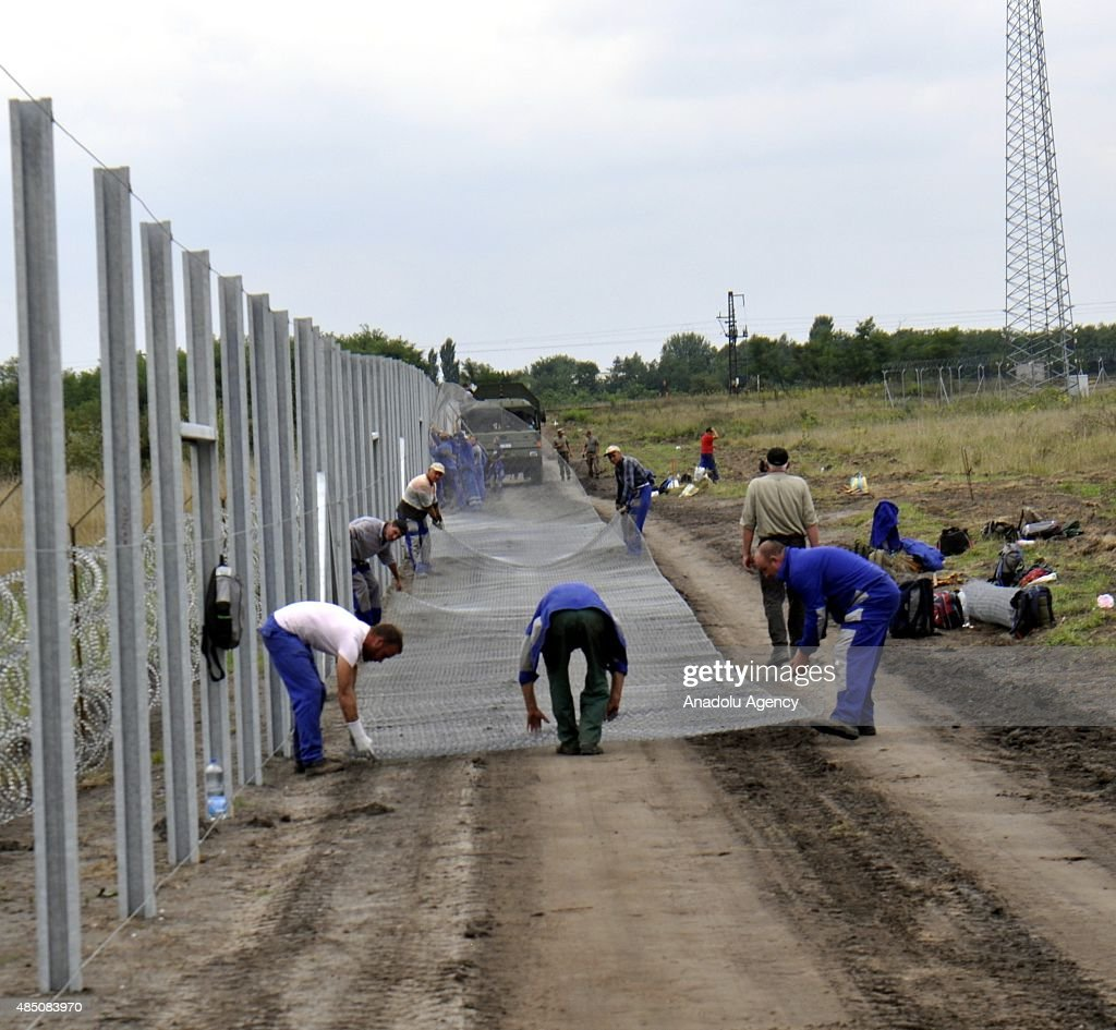 Hungary puts wire fences on Serbia border : News Photo