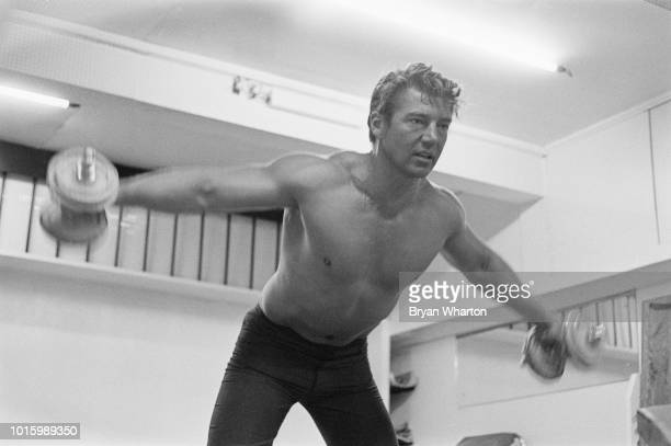 HungarianAmerican actor Mickey Hargitay training for 'Mr Universe' contest UK 20th September 1963