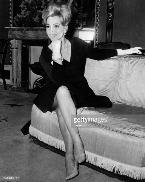 HungarianAmerican actress Zsa Zsa Gabor at her London hotel 10th May 1965