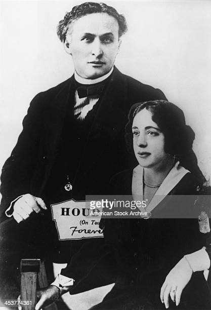 HungarianAmerican escapologist Harry Houdini with his wife and stage assistant Bess circa 1922