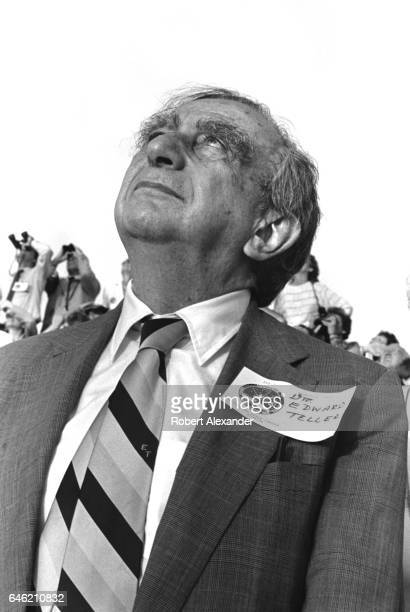 HungarianAmerican theoretical physicist Dr Edward Teller witnesses the launch of the Space Shuttle Challenger at Kennedy Space Center in Florida on...