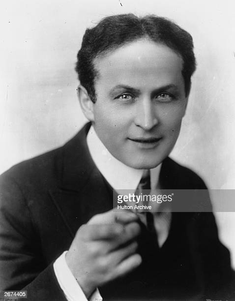 Hungarianborn American magician and escape artist Harry Houdini