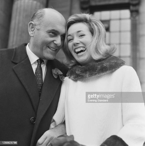 Hungarian-born British conductor Georg Solti marries television presenter Valerie Pitts UK, 11th November 1967.