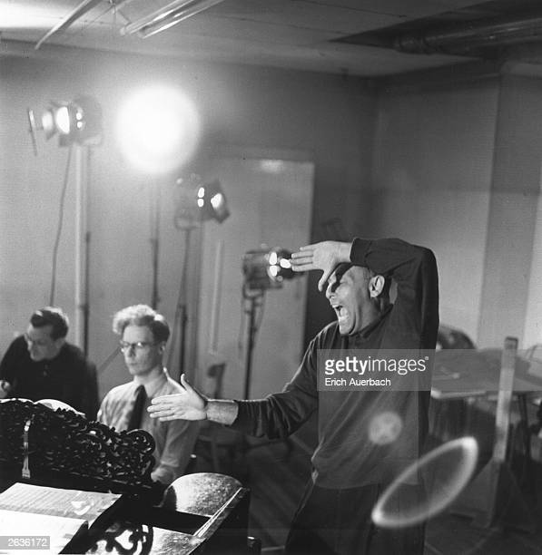 Hungarian-born British conductor Sir Georg Solti musical director of the Royal Opera House, Covent Garden, London, during a rehearsal for a...